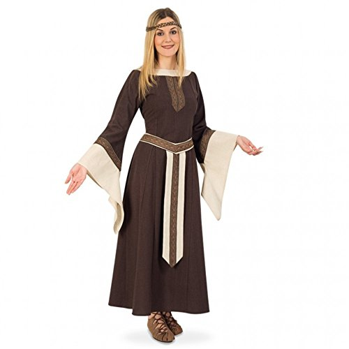 Abito Co da amp; vestiti beige amp; marrone principessa Carnevale Söhne L Fries GmbH medievale Greta vestito LARP Fritz wXHq4Yc