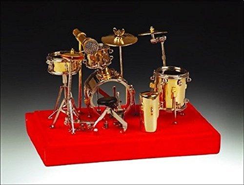 Broadway Gifts Miniature Instrument Gold Drum Set 5.25