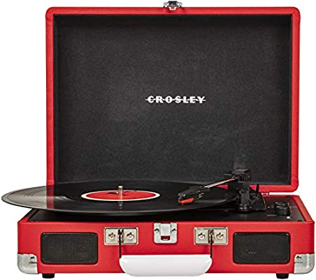 Crosley Cruiser Deluxe Vintage 3 Speed Bluetooth Suitcase Turntable Red Amazon Sg Electronics