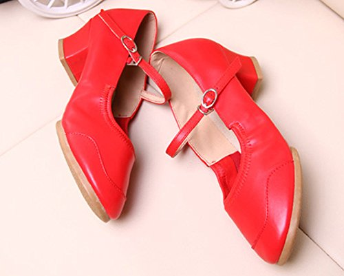 Red Soft Ladies Dance Sneakers Shoes Modern Fitness Sole Summer VECJUNIA PzwR1qII