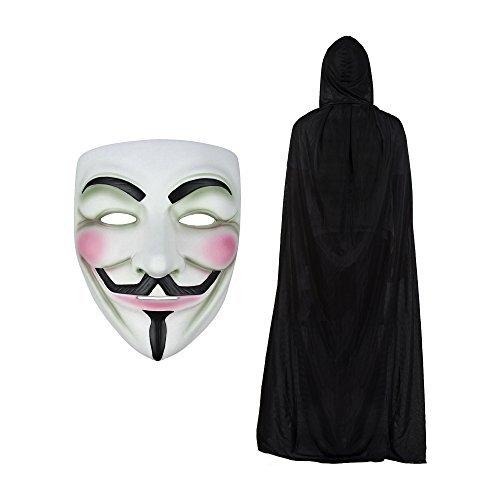 V for Vendetta Maske & Kapuze Cape Modisches Kostüm-Set