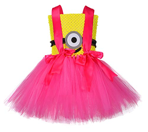 Tutu Dreams Despicable Me Toddler Girls Minions Costumes Cosplay Halloween Carnival Party Dress Up (Minions, Medium(3-4 Years)) -