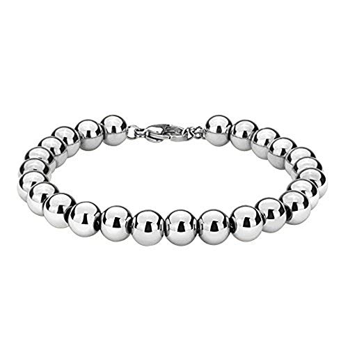 Strand Bracelet Wheat (Stainless Steel 12MM Two-Strand Wheat Franco Chain Bracelet for Men Punk Biker Bracelet 8.66 inches(Silver, 9.5 inches))