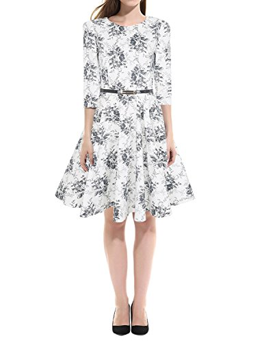 Dramaticbuying-Womens-Vintage-Dress-34-Sleeve-Printed-Garden-Cocktail-Dresses