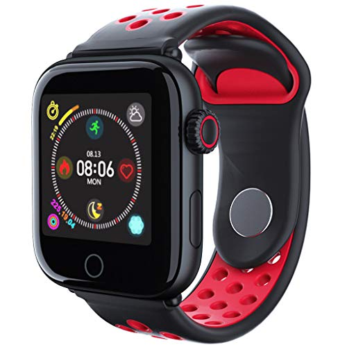 FEDULK Fashion Smartwatch Bluetooth Smart Watch Heart Rate Monitor Bracelet for Android iOS Creative Gifts(Red)