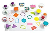 Colorations GEOSTAM Easy-Grip Stampers, Shapes (Pack of 14)