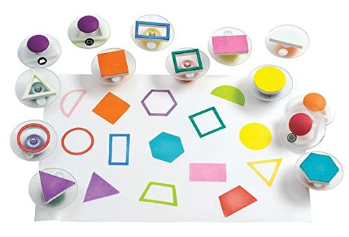 Colorations Easy-Grip Stampers, Shapes - Set of 14 (Item # (Grip Shapes)