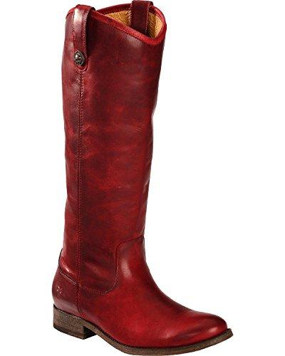 Stuart Weitzman Black Croc (FRYE Women's Melissa Button Burgundy Washed Antique Pull Up Boot 9 B (M))