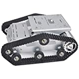 KOOKYE Robot Car Chassis Smart Tank Platform Metal Stainless Steel 2DW Motor 9V for Arduino/Raspberry Pi DIY(TR300)