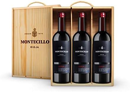 Vino Tinto D.O. Rioja Montecillo Gran Reserva 22 barrica - estuche de madera de 3 botellas de 75 cl - Total: 225 cl