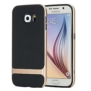 Samsung Galaxy S6 funda, ROCK [les Series] + Ultra Carcasa de TPU para PC silicona recubierto de caucho a prueba de golpes carcasa para Samsung Galaxy S6 G9200 (no compatible con S6 edge)