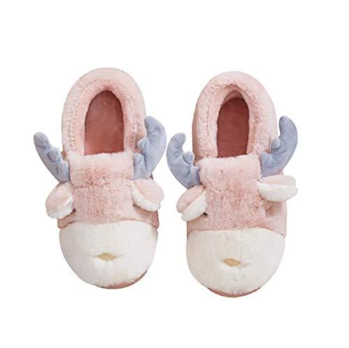 Chaussures 38 Doux Accueil Cartoon Pink Mignonne Chaussons SHANGXIAN Coton Peluche Chaud Peluche Pink en Chaussures 37 Pantoufles Hiver qtFFva