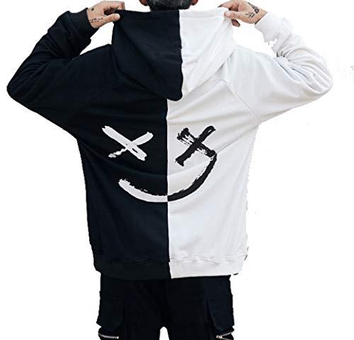 À Noir Coton Tops Shirt Grande Streetwear Blanc Sweat Bloc Manches Couleur Homme Capuche Blouse Taille En anica Longues Hoodies Imprimées G Sweatshirt Pull qwC4pE