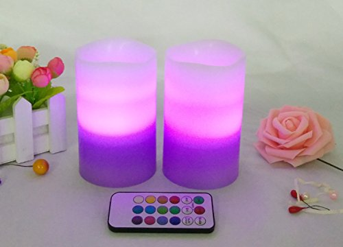Led Pillar Candles With Timer Real Wax Led Lights With Tri