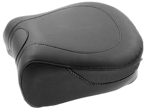 Mustang Vintage-Style Wide Rear Seat - Black - Recessed Rear Seat