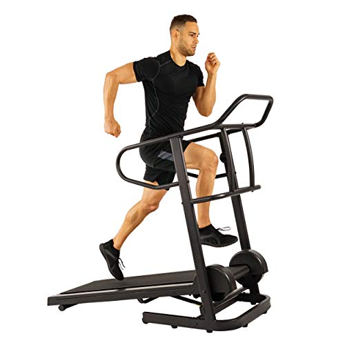 Sunny Health & Fitness Force Fitmill Manual Treadmill with High Weight Capacity, 16 Levels of Magnetic Resistance and Dual Flywheel - SF-T7723