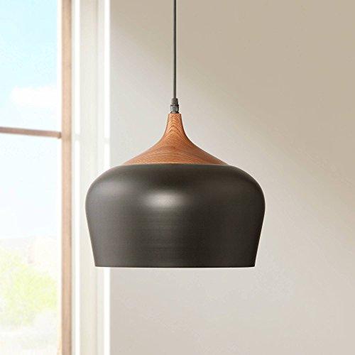 Felton Black Aluminum and Wood 12