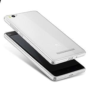 Blanco Slim Transparente TPU Silicona Funda Case Cover y Protector de Pantalla Para Xiaomi Mi 4c (no es compatible con Xiaomi Mi 4 & 4s) Vooway® MS60035