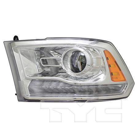 Fits 2016-2017 RAM 1500 Headlight Driver Side Bulbs Included CH2502290 - Replaces 68324941AB ;Quad Projector; Code LMC; Chrome