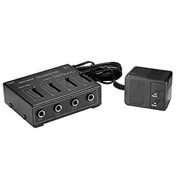 Neewer Compact 4-channel Stereo Headphone Amplifier With Dc 12v Adapter For Sound Reinforcement, Studio, Choir & Personal Recording 2