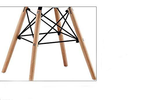 Facili da Montare e puliti Black WV LeisureMaster 4PCS Mid Century Modern Sedie da Pranzo con Conchiglia Sagomata con Piedini Eiffel in Legno