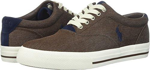 Polo Ralph Lauren Mens Vaughn Colored Denim Sneaker  Brown  7 5 D Us