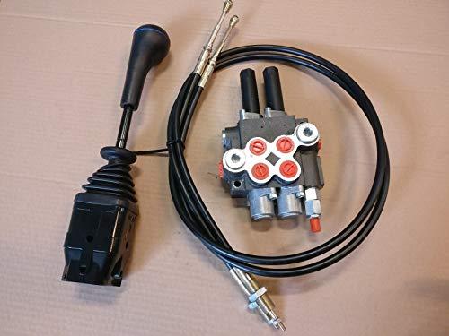 Joystick Cable - Cable Remote Control Valve kit: 2 Spool Valve 80lpm/ 21gpm + Cables + Joystick