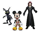 Diamond Select Toys Kingdom Hearts Select: Mickey, Axel, and Shadow Action Figure Set