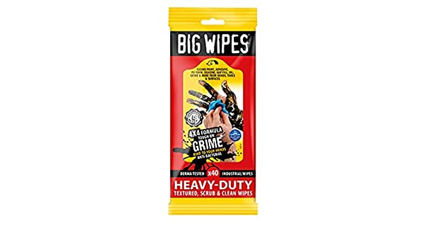 Big Wipes bgw2424 4 x 4 Heavy-duty toallitas de limpieza - negro (bolsita de 40): Amazon.es: Bricolaje y herramientas