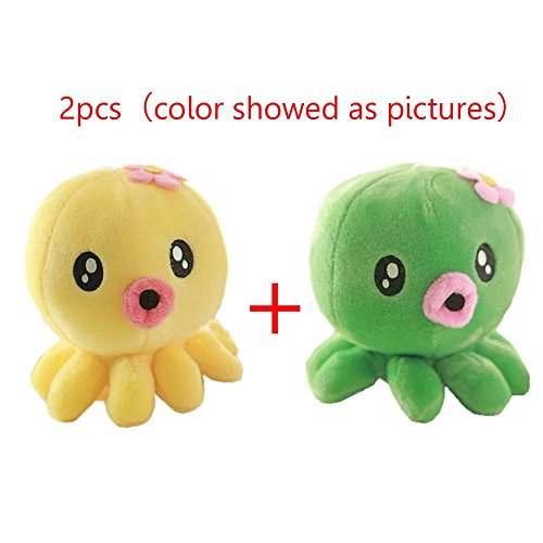 Lovely Sea Animals Plush Toy Doll Stuffed Fish Octopus Turtle Pillow Baby Kids Adult Toys,Great Christmas Gift Birthday Gift for Boys and Girls(2pcs)