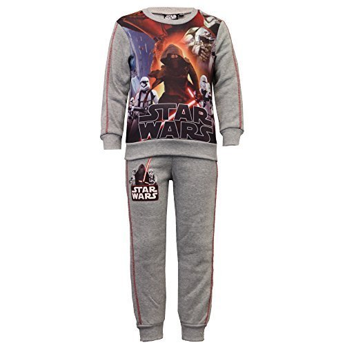 Niño Set Pijama Star Wars Marvel Sudadera Pantalones Kylo Ren Spiderman Polar - Gris - SS38001