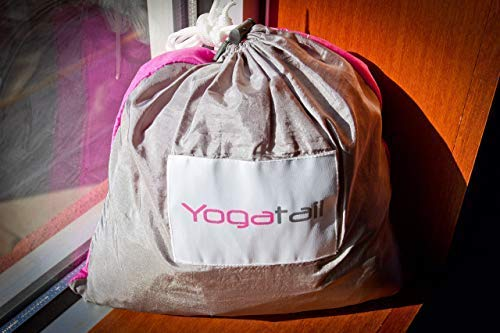 Aerial Yoga Swing - Gym Strength Antigravity Yoga Hammock - Inversion Trapeze Sling Exercise Equipment with Two Extender Hanging Straps - Blue Pink Grey Swings & Beginner Instructions.  by Yogatail (Image #8)