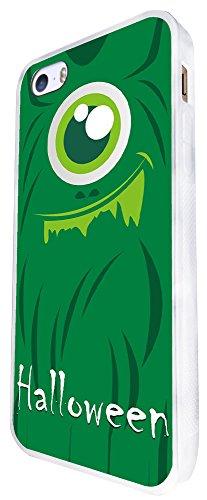 883 - Halloween Monster Face Design iphone SE - 2016 Coque Fashion Trend Case Coque Protection Cover plastique et métal - Blanc