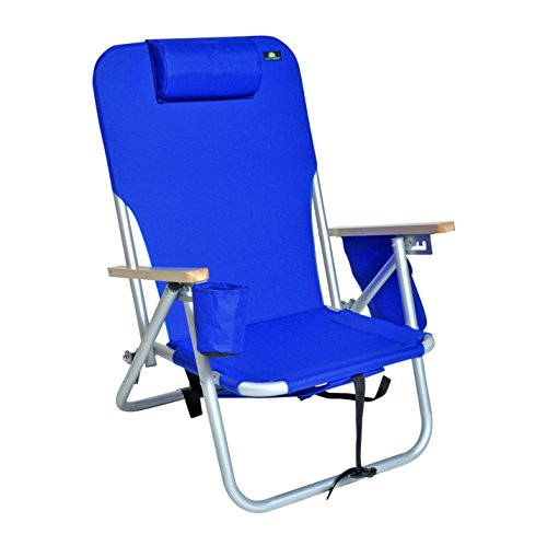 Deluxe 4 Position Aluminum Backpack Chair with Drink Holder & Dry Cell Pouch