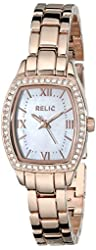 Relic Women's ZR34300 Lillian Rose Gold-Tone Stainless Steel Watch
