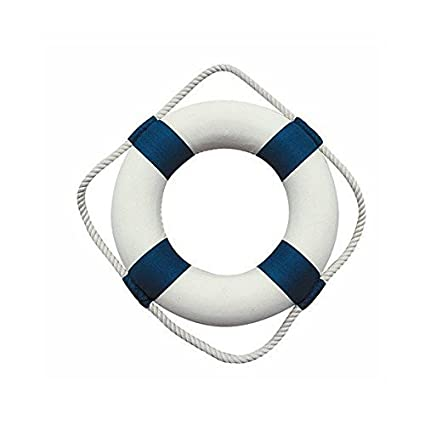 MARÍTIMO Decodificar para aro salvavidas, azul/blanco ø 20cm