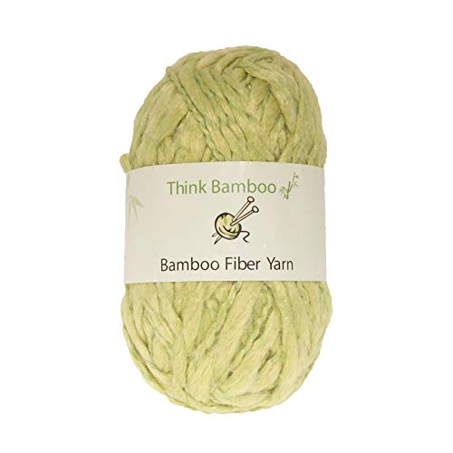 BambooMN Brand - Lime Ice Thick Thin Bamboo Fiber Wool Yarn - 100g/Skein - 2 ()