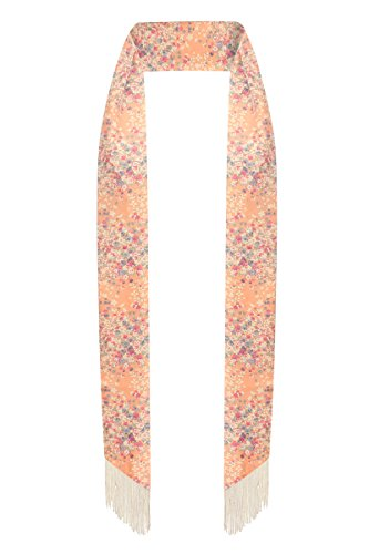 Skinny scarf - Scarf tie - Sash tie - Summer scarf - with fringe (Pink (with small - Summer Tie Scarf