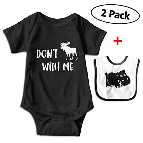 Price comparison product image Canadian Moose Unique Baby Romper Bodysuit Onesie + Bibs Gift Set
