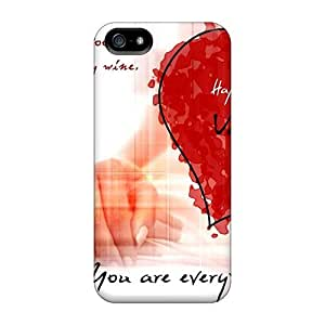 Durable Protector Case Cover With Happy Valentines Day Card Hot Design For Iphone 5/5s