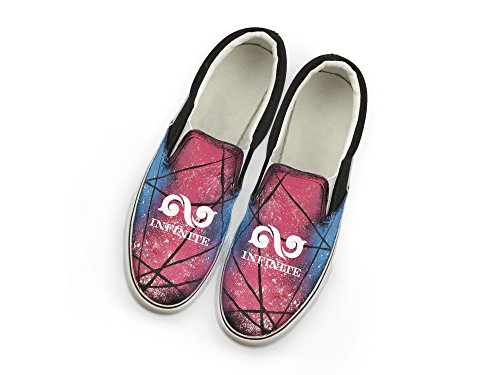lomo Canvas Infinite style Shoes hiphop card fan painted Kpop Hand Memeber Fanstown with Fanshion support 67wgZqnA