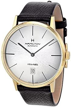 Hamilton Intra-Matic Automatic Yellow Gold PVD Mens Watch H38735751