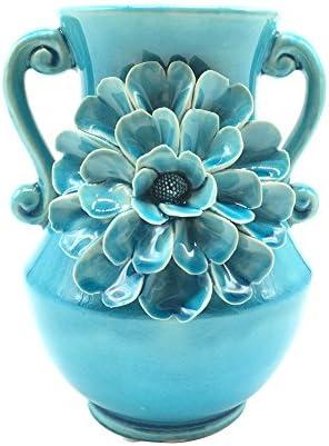 Anding Vase Home Decoration Blue Crack Vase Handmade Big Flowers Kitchen Vase