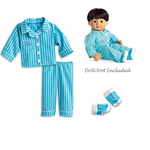 (American Girl Bitty Twin Pinstripe Pajamas for 15
