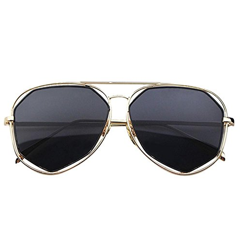 Mirrored Cat-Eye Sunglasses ,Aolvo Retro Cat-Eye Sunglasses Metal Frame Women Sunglasses for Women Polygon Mirrored Flat Lenses ,Street Fashion , - Healthy Are Not Sunglasses