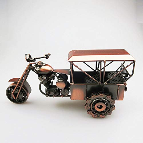 Statues Sculpture Figurines Statuettes,Creative Iron Vintage Classic Tricycle Car Model Figurine Ornament Collectible,Home Art Crafts Décor Desktop Statuettes for Indoor Living Room Office Home Dec