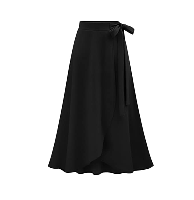 8123361890c018 Faldas Mujer Verano Elegantes Faldas Largas Cintura Alta Irregular  Dobladillo Vintage Moda Casual Medium Largos Falda Midi Ropa Fiesta Moda:  Amazon.es: Ropa ...