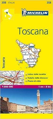 Detailed Map Of Tuscany Italy.Michelin Map Italy Toscana 358 Maps Local Michelin Italian
