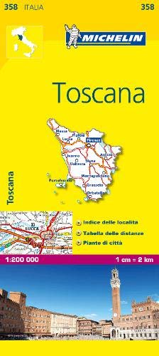 (Michelin Map Italy: Toscana 358 (Maps/Local (Michelin)) (Italian Edition))