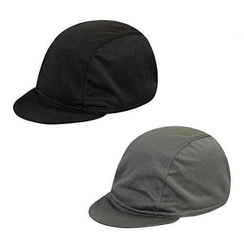 2 Packs Cycling Caps, Helmet Liner Skull Caps Quickly Dry Riding Hats Sun Visor Breathable Baseball Hat for Men and Women ()